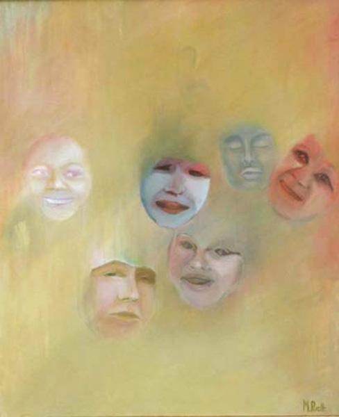001-Les rires jaunes  huile  73x60