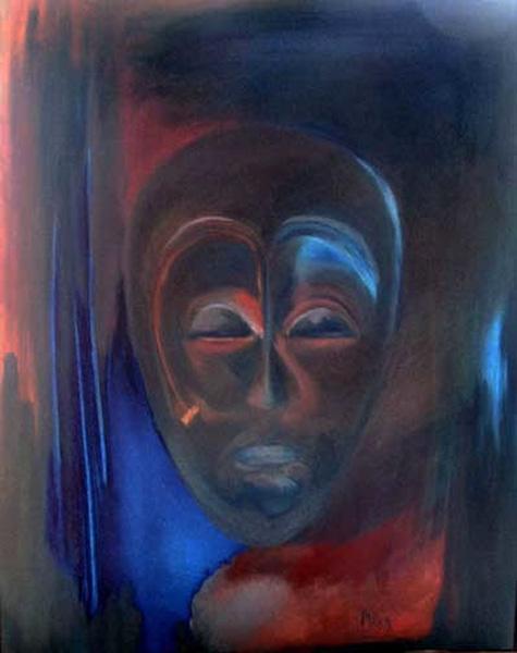 014-Masque Noir huile 81x63