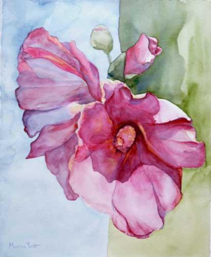 314-Fleur-aquarelle-40x33